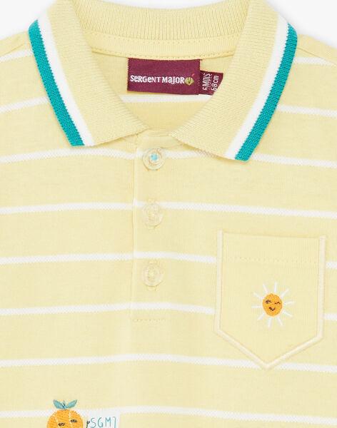Lemon yellow striped jumpsuit baby boy ZAMATHEO / 21E1BGO1CBLB104