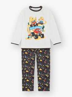 Grey jersey pajamas ZEBLOCAGE / 21E5PG12PYJ943