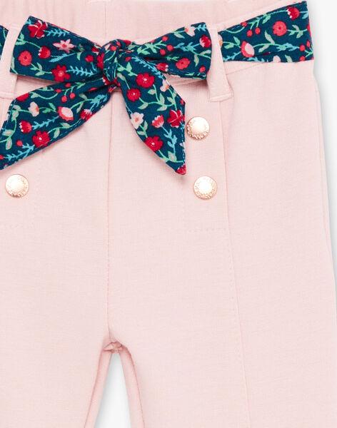 Baby girl pale pink pants and belt BAGARA / 21H1BF91PAND329