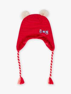 Red knitted hat child girl BLOZANETTE / 21H4PFE2BON308
