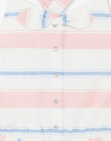 Short dungarees with colored stripes child girl ZUQOBETTE / 21E2PFT1SAC001