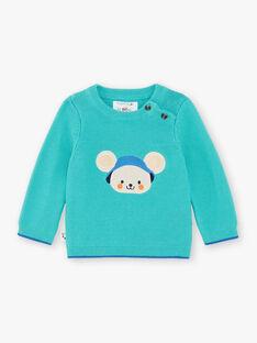 Turquoise blue sweater ZAKEVIN / 21E1BGJ1PULG621