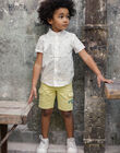 Bermuda shorts lemon yellow child ZELOUAGE / 21E3PGO1BERB104