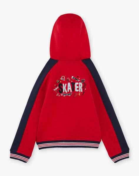 Baby boy's red and navy blue hoodie BAGE / 21H3PG11GIL050