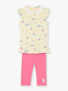 Yellow pyjama child girl ZELAETTE / 21E5PF12PYJB102