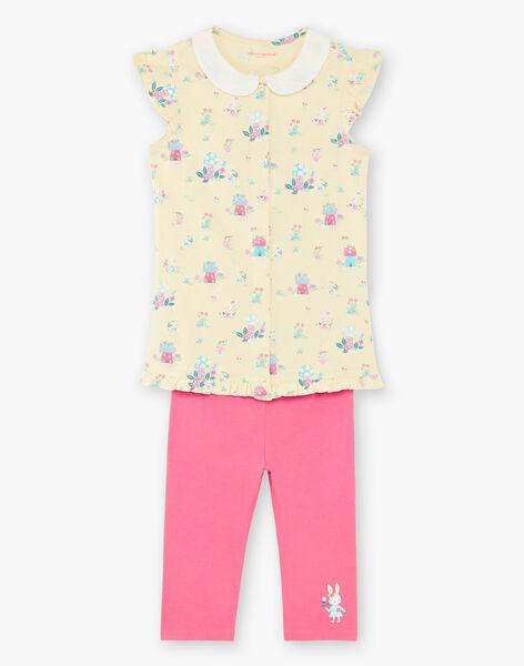 Yellow pyjama child girl ZELAETTE / 21E5PF12PYJB102