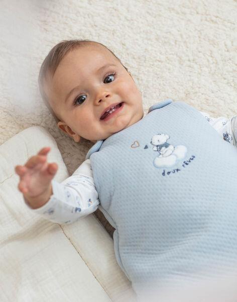 Blue baby sleeping bag for boys BOALEM / 21H0AG41TUR219