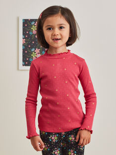 Girl's pink and gold long sleeves sweater BRISOPETTE1 / 21H2PFM1SPL308