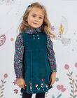 Girl's corduroy embroidered sleeveless dress BOERINETTE / 21H2PF91CHS714