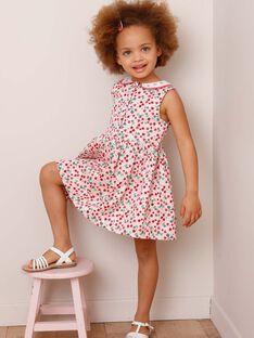 Pink strawberry print chasuble dress ZORABETTE / 21E2PFJ2CHS301