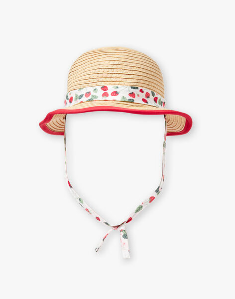 Rope hat with printed ecru satin ribbon ZAAMOUR / 21E4BFJ1CHA080