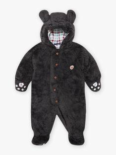 Baby boy's charcoal grey faux fur pilot BIRAYNAL / 21H1BGE1PILJ916