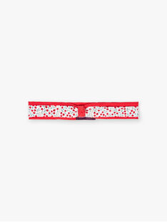 Baby girl red headband with floral print BAAMITIE / 21H4BF11BAN001