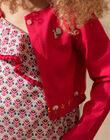 Girl's peony knit cardigan TIUTETTE / 20E2PFQ1CARF510
