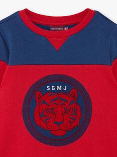Red and blue cotton fleece sweatshirt ZAGLAGE / 21E3PGI1SWE502
