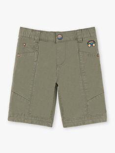 Boy's khaki shorts TOPOAGE / 20E3PGQ2BER604