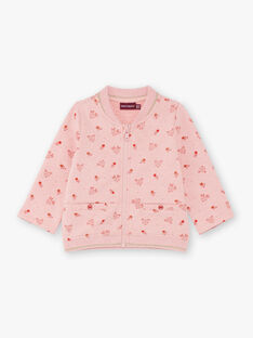 Baby Girl Pink Teddy with Doe and Flower Print BAISA / 21H1BFJ1JGHD314