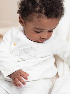 White jacket and leggings birth girl BOTHEO / 21H0NM41ENS001