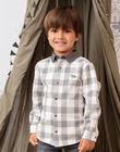 Boy's two-tone checkered long sleeve shirt BASHIRTAGE / 21H3PG21CHM001
