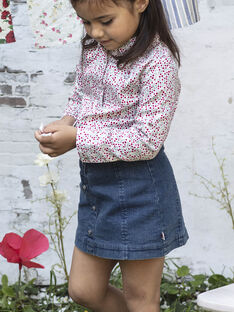 Baby Girl Short Denim Skirt BABETTE / 21H2PF11JUPP269