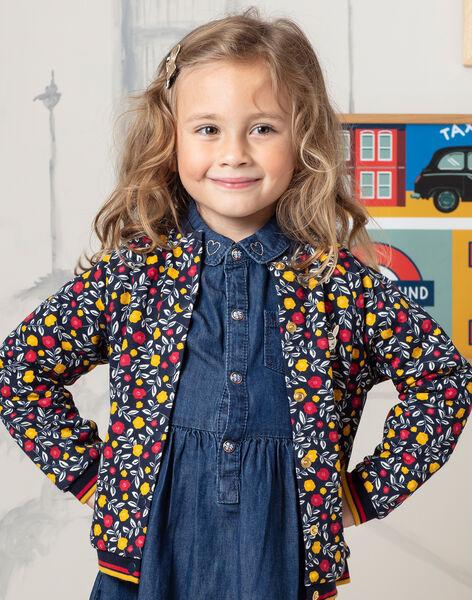 Girl's long sleeve floral cardigan BITODETTE / 21H2PF52CAR070