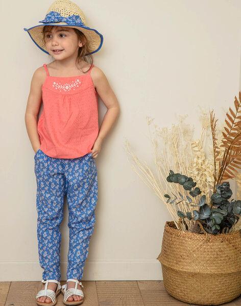 Blue pants child girl ZUPATETTE1 / 21E2PFT1PANC208