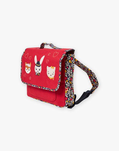 Red satchel with fantasy design for girl BICARETTE / 21H4PF51BES050