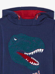 Boy's red and navy hoodie BUSWETAGE2 / 21H3PGF2SWE705
