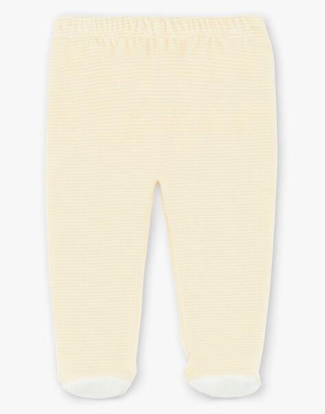 Yellow and ecru velvet pajamas ZEBRAD / 21E5BG11PYJ001