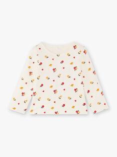 Baby girl ecru reversible T-shirt BAEMY / 21H1BF51TEE001