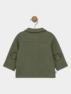 Baby boys' khaki jacket with front button fastening. SADAVID / 19H1BG31GIL628