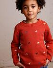 Brick red sweater boy child ZEBLAGE / 21E3PGB1PUL506