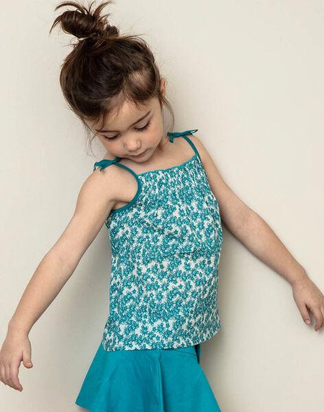 Tank top turquoise child girl ZLYNETTE2 / 21E2PFL1DEB714