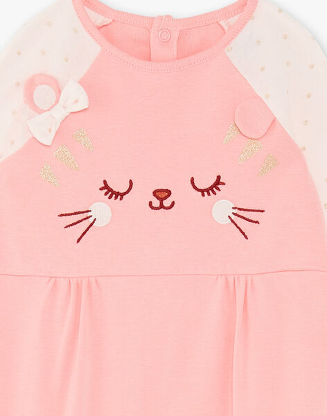 Baby girl pink romper ZECHLOE / 21E5BF14GRED323