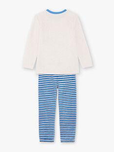 Boy's blue and white pajama T-shirt and pants BEVIKAGE / 21H5PG64PYJA011