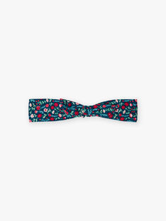 Girl's blue duck headband with floral print BOMAETTE / 21H4PF91BAN714