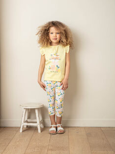 White and yellow pants child girl ZILOETTE / 21E4PFO1CO2000