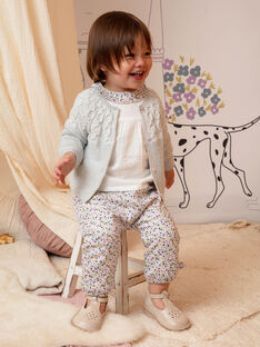Baby girl floral collar blouse BACLAIRE / 21H1BF21CHE320
