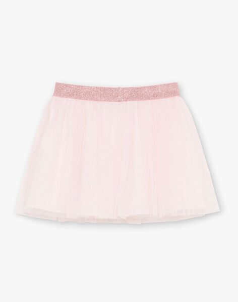 Girl's pale pink sequined skirt BROTUTETTE / 21H2PF31JUPD310