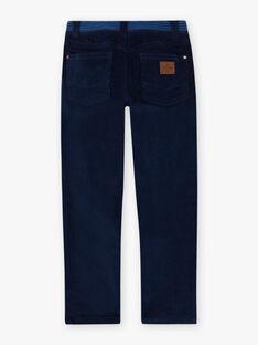 Boy's midnight blue pants with yokes BUXUAGE1 / 21H3PGF2PAN705