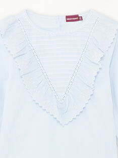 Child girl sky blouse with ruffles BYCHEMETTE / 21H2PFL1CHE020