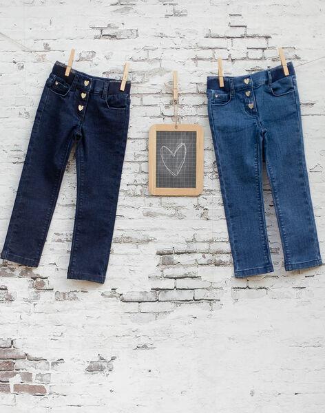 Girl's raw denim jeans BROGINETTE1 / 21H2PFB2JEAK005