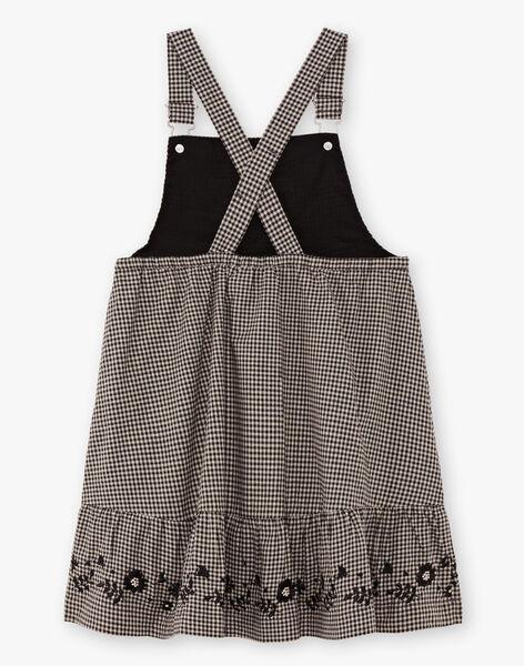 Girl's flowing gingham overalls dress BECHAETTE / 21H2PF21CHS090