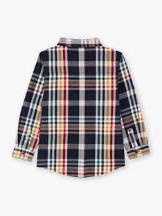Boy's navy blue checked shirt BECHOAGE / 21H3PG51CHM070