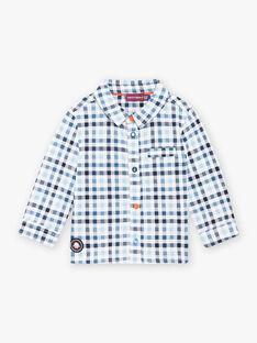 Baby boy blue plaid shirt BANIELS / 21H1BGL1CHM205