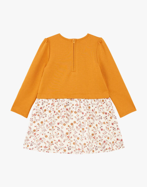 Girl's two-tone long sleeve dress BUROBETTE / 21H2PFJ2ROB804