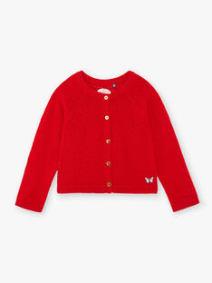 Red CARDIGAN ZECAMETTE 3 / 21E2PFB3CAR050