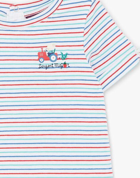 Short sleeve striped t-shirt bodysuit ZAKAMARO / 21E1BGJ2BOD000