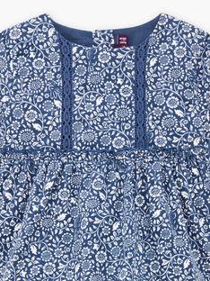 Baby girl's corduroy floral print dress BAKORALIE / 21H1BFL1ROB715