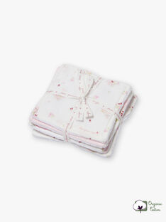 6 pink and white wipes birth girl BOZENA / 21H0AF41ACD301